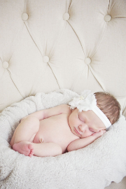 Newborn Portrait Photography - Infant smiling