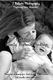 Photography Gift Voucher Family Portraits
