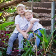 Family Portrait Photography - Brothers laughing
