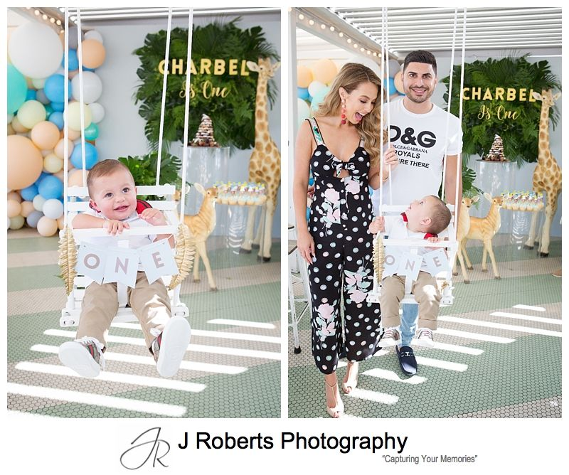 1st Birthday Party Photography Sydney Wild theme at Watsons Bay Boutique Hotel