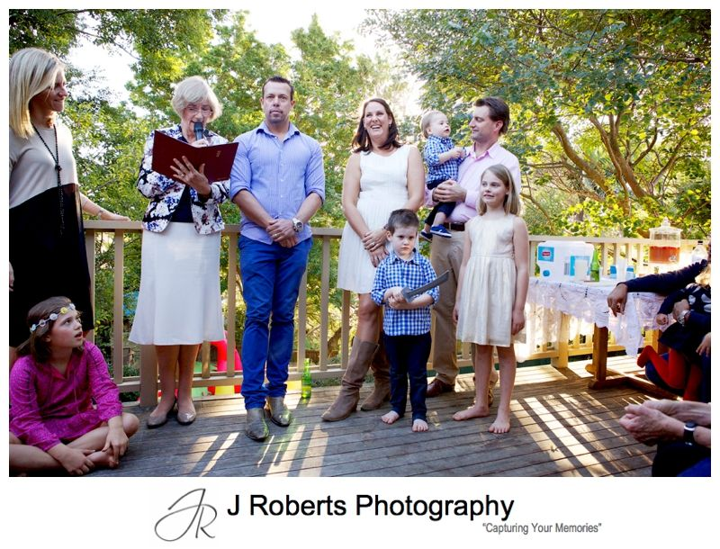 1st Birthday Party and Naming Ceremony Event Photography Sydney Family Home Mosman