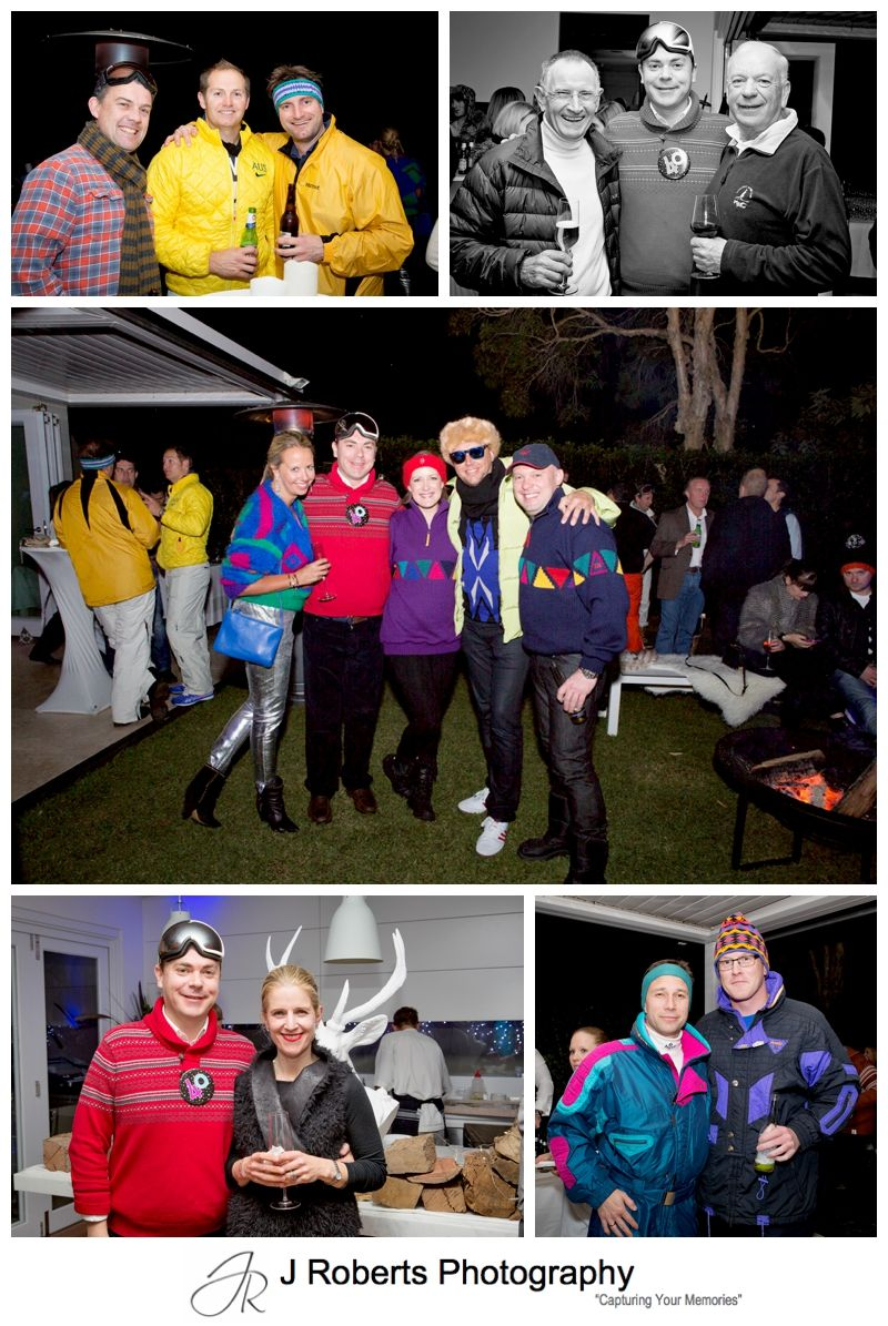 40th Birthday Party Photography Apre Ski Themed Family Home Mosman