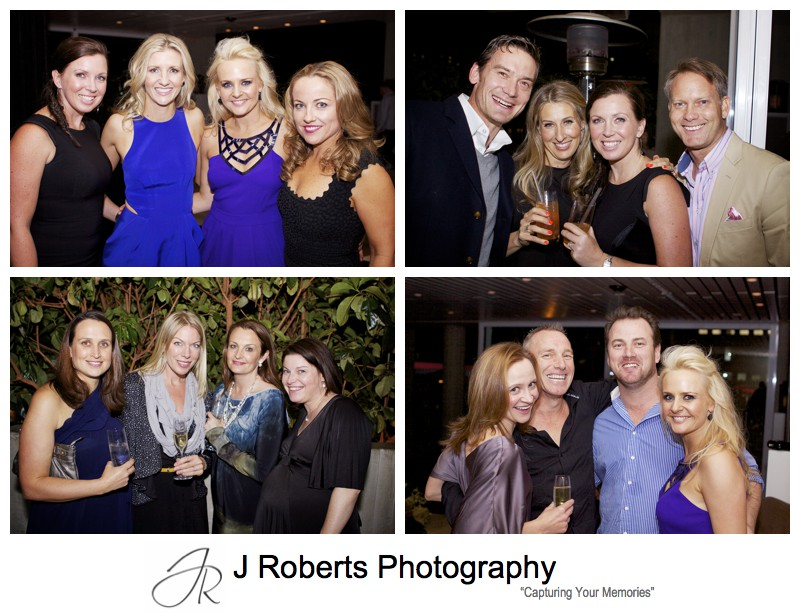 Groups of friends having fun at a birthday party - party photography sydney