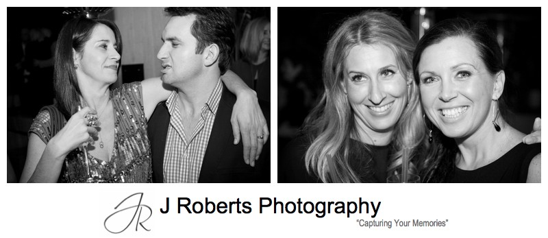 B&W party photography - party photography sydney