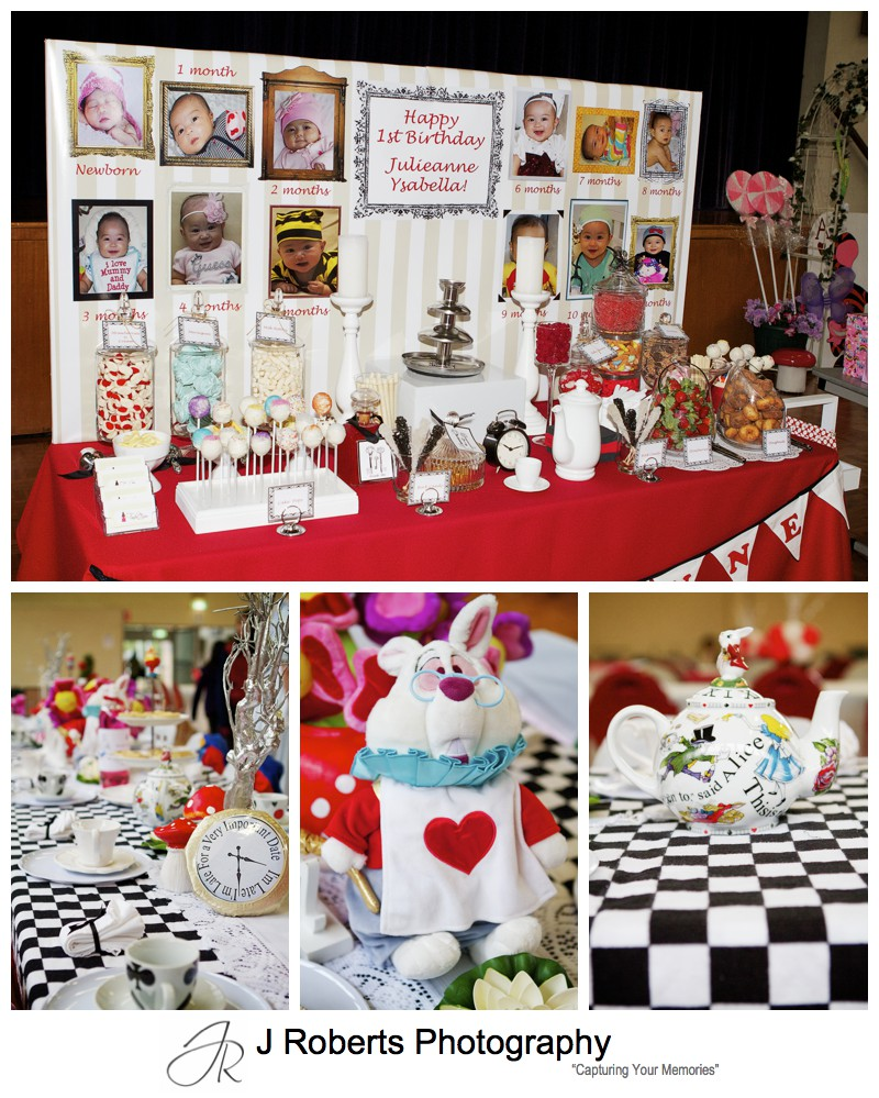 Alice In Wonderland Tea Party Theming - Party Photography Sydney