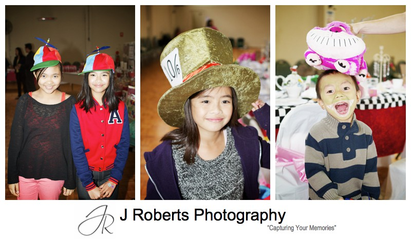 Kids in crazy hats - Party Photography Sydney