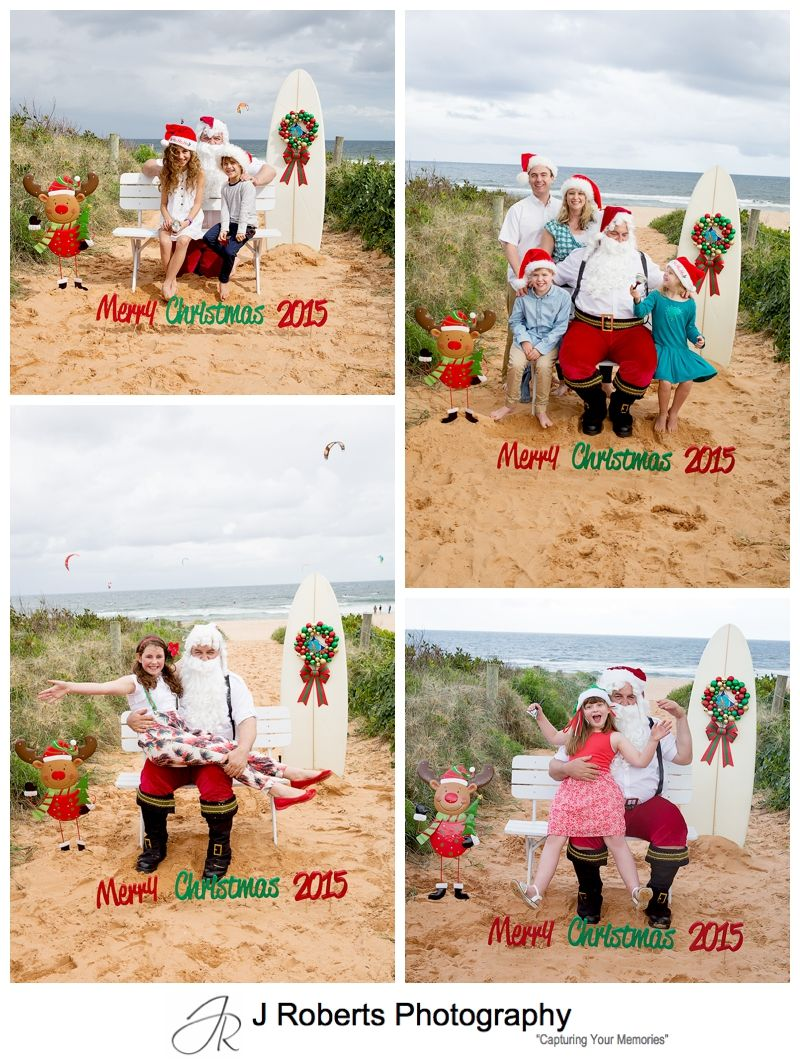 Aussie Beach Santa Photos Northern Beaches Sydney at Long Reef Beach