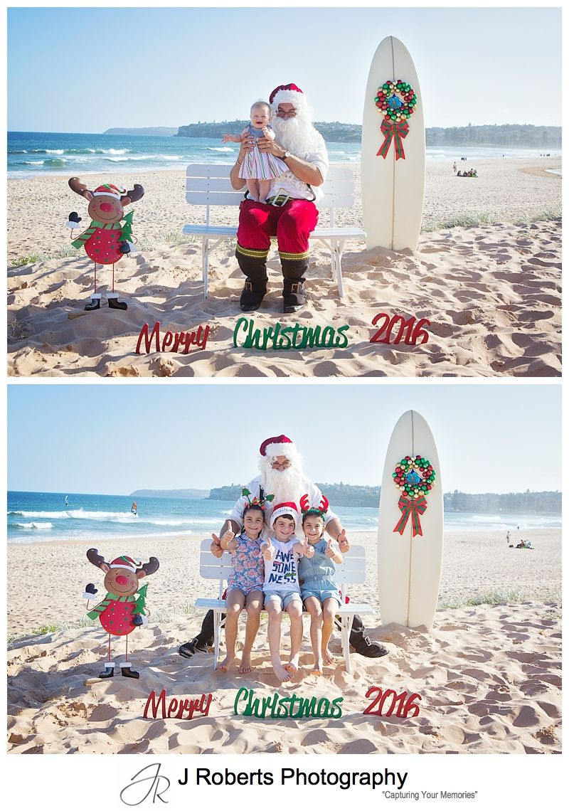 Aussie Beach Santa Photos on the Northern Beaches Sydney