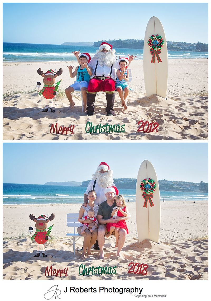 Aussie Santa Photos at Long Reef Beach Beach fun with Santa