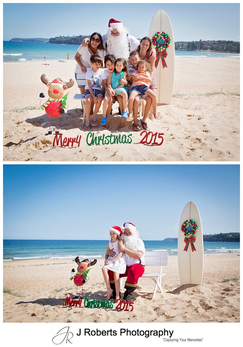 Aussie Santa Photos at Long Reef Beach First Day of School Holidays Stunning Afternoon
