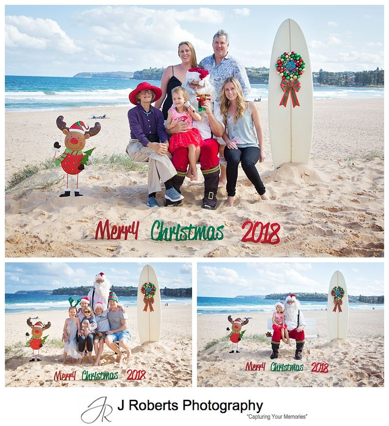 Aussie Santa Photos at Long Reef Beach First Session for 2018 Fabulous Afternoon Light