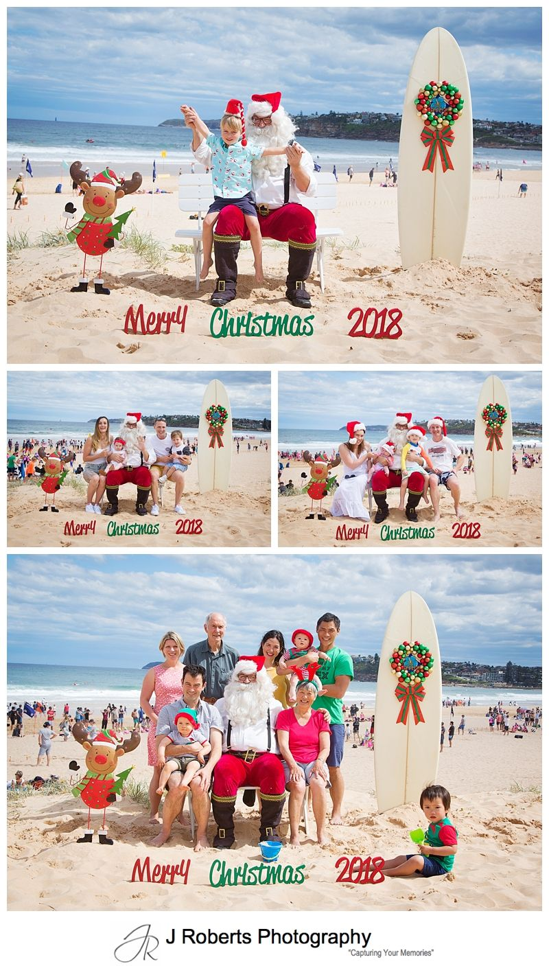 Aussie Santa Photos at Long Reef Beach Fun Times