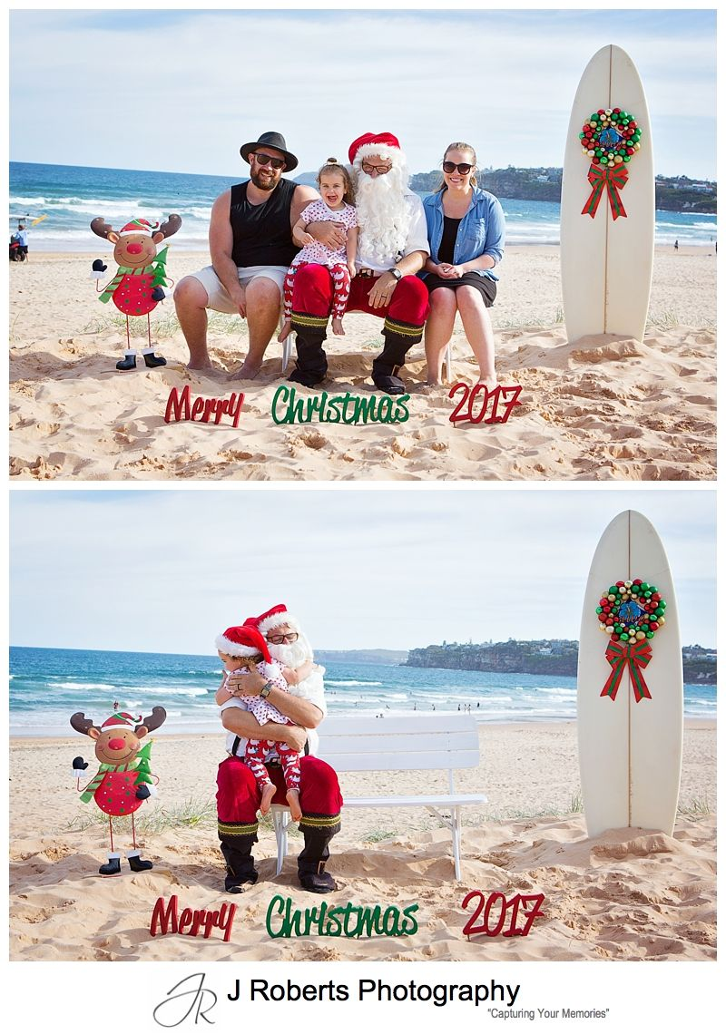 Aussie Santa Photos at Long Reef Beach Sydney 2017