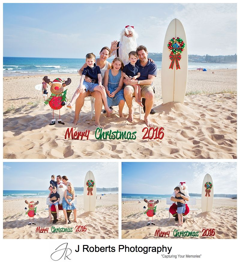 Aussie Santa Photos at Long Reef Beach on a beautiful Sunday afternoon in December