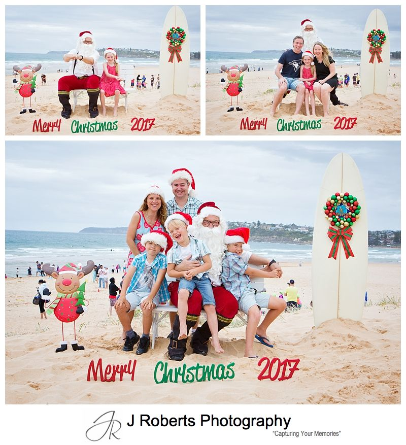Aussie Santa Photos at Long Reef Beach