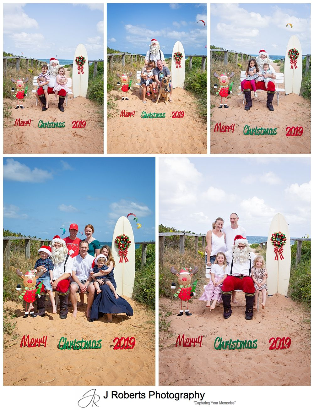 Aussie Santa Photos at Long Reef Beach Sydney Santa is back to his usual antics for 2019