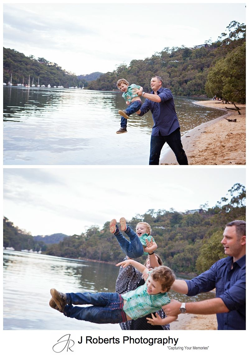 Autumn Family Portrait Photography Sydney Echo Point Roseville with Lots of colourful Leaves