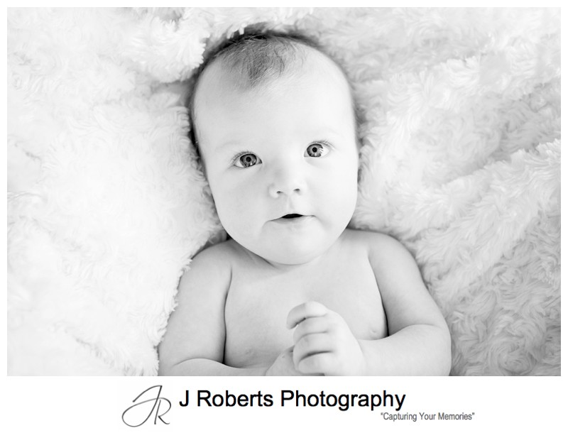 Baby Portrait Photography Sydney 3 Months Old in Family Home St Ives