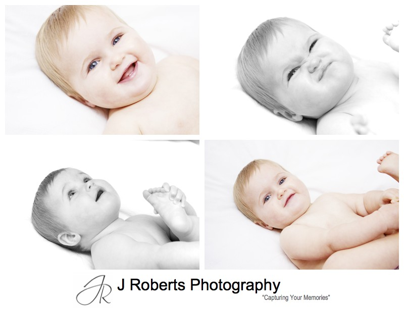 Smiling baby girl - family portrait photography sydney