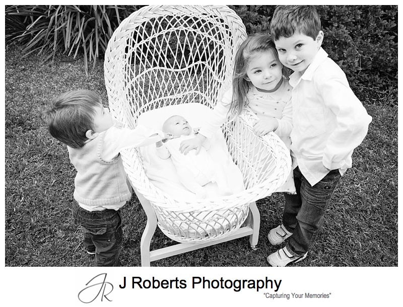 Baby Portrait Photography Sydney Family Home Castle Cove