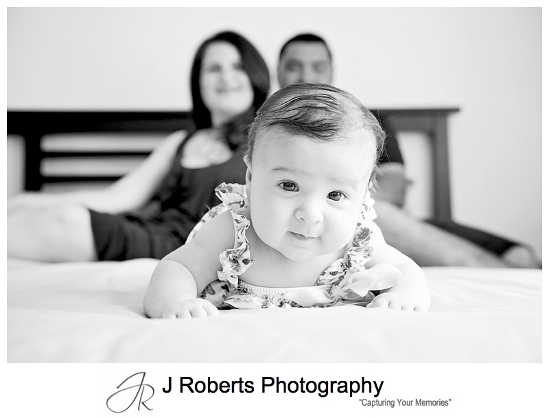 Baby Portrait Photography Sydney Family Home Revesby