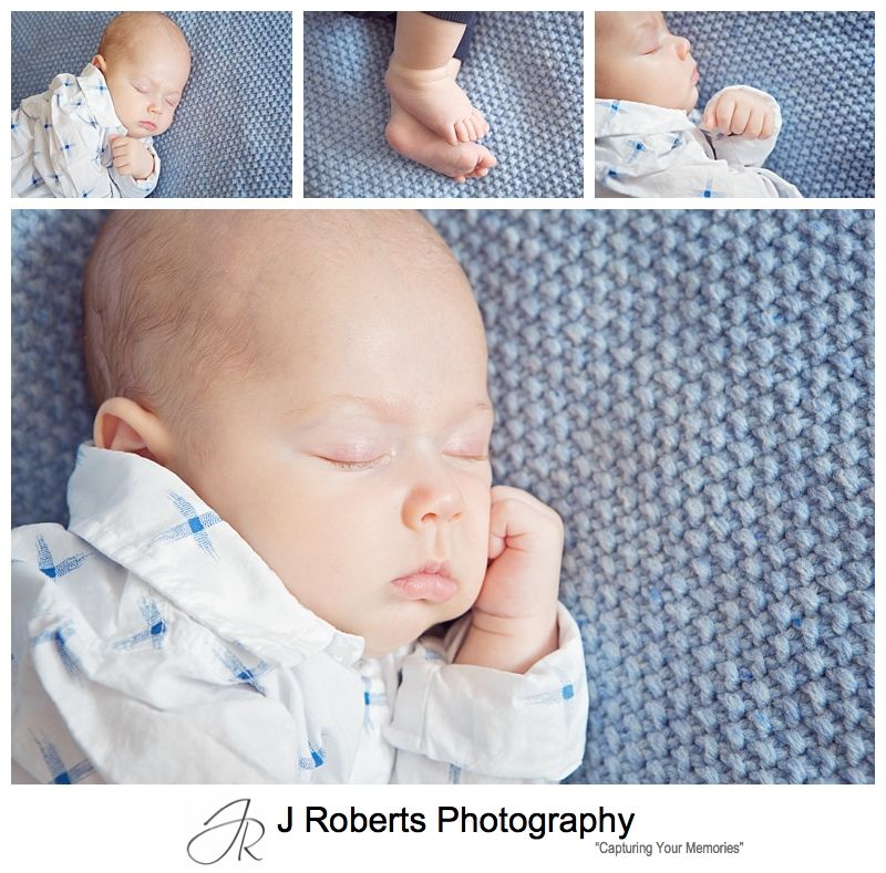 Baby Portrait Photography Sydney in Family Home Hornsby with 12 Weeks Old Baby Boy