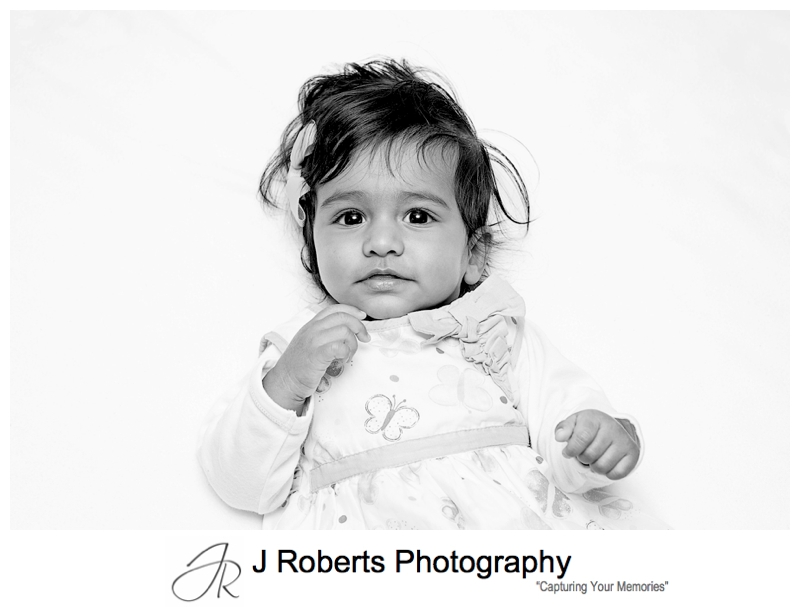 Baby Portrait Photography in the family home Bexley 6 months old baby girl