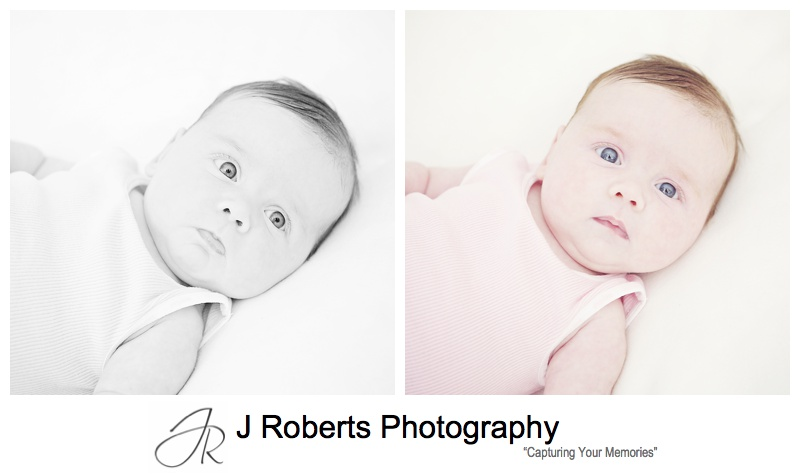 Twin Baby Portrait Photography in the family home Sydney