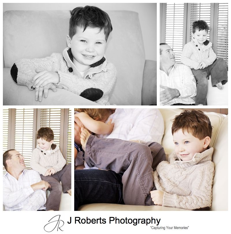 Little boy portraits with his family - family portrait photography sydney