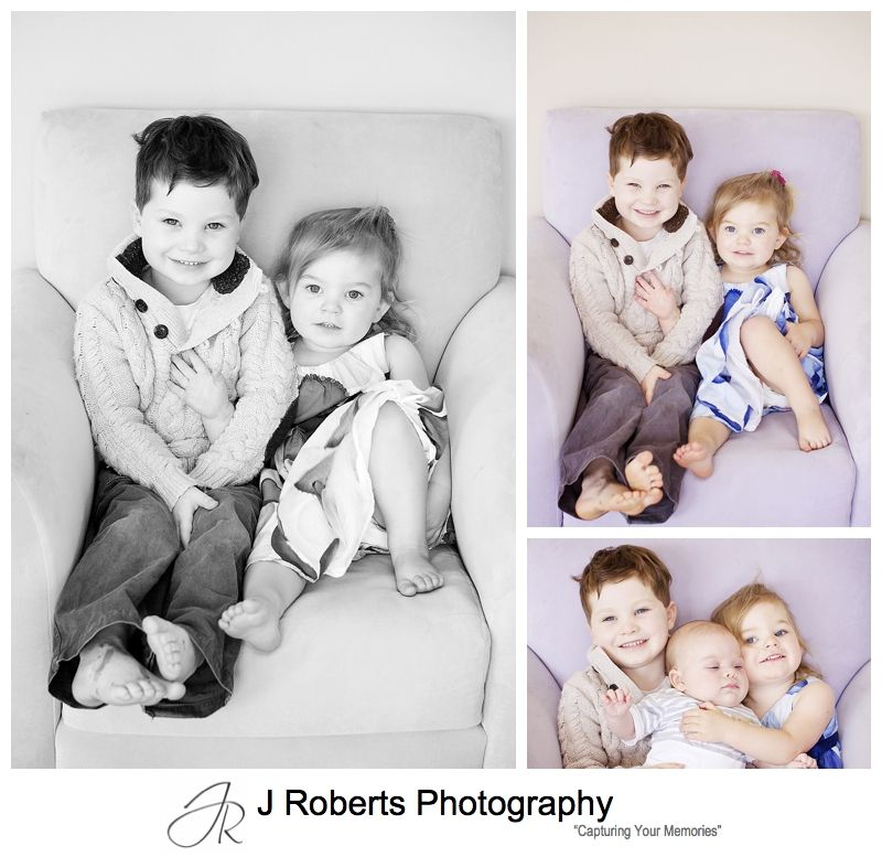 Sibling portraits at home - sydney family portrait photographer