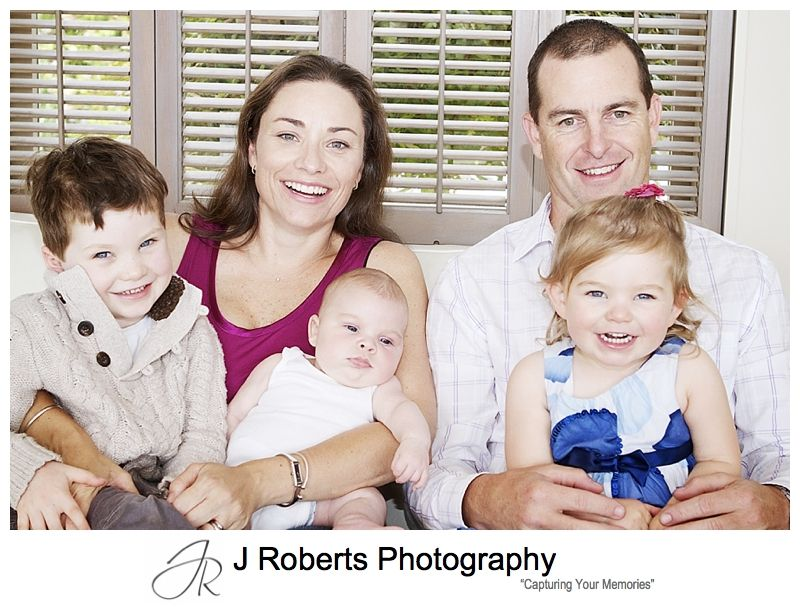 Family portraits of family of 5 at home sydney - sydney family portrait photography