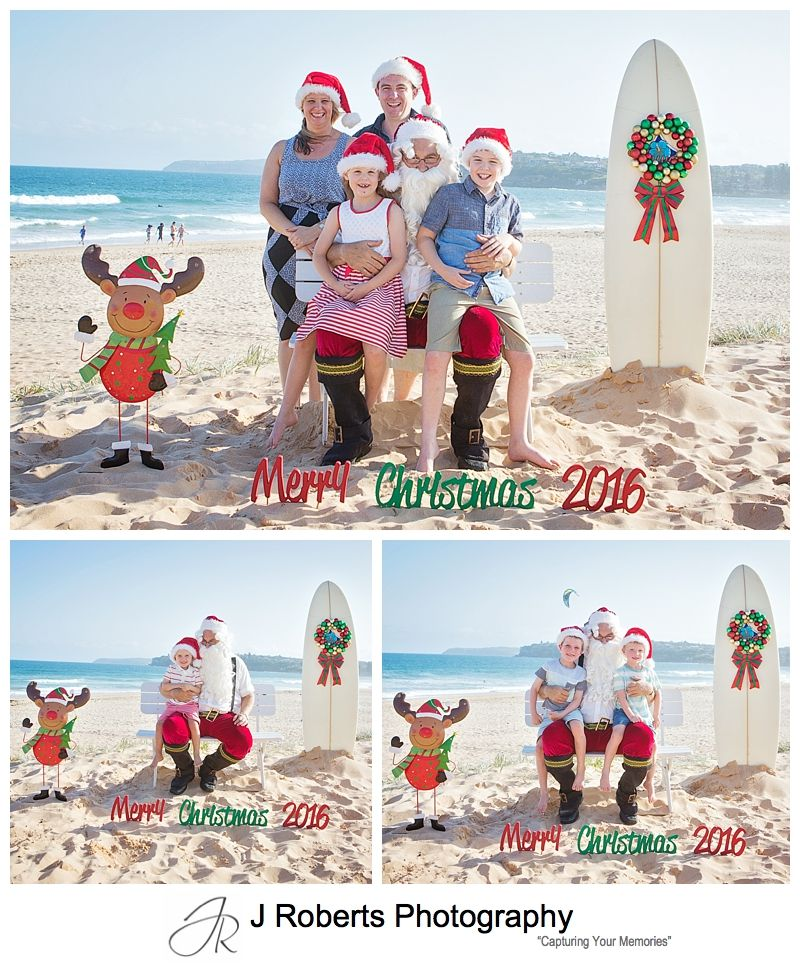 Beach Santa Photos Sydney Aussie Santa Photos at Long Reef Beach