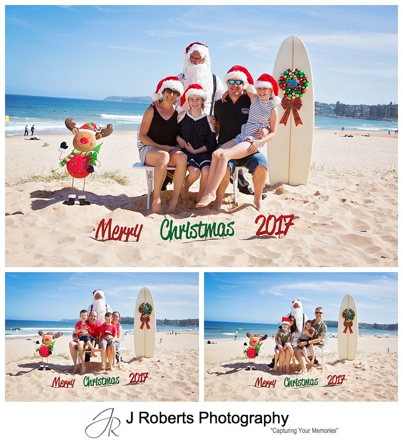 Beach Santa Photos Sydney Northern Beaches Aussie Santa at Long Reef Beach
