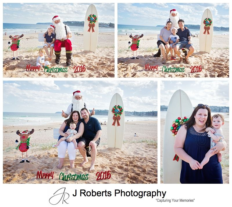 Beach Santa Photos Sydney at Long Reef Beach Last Saturday Before Christmas