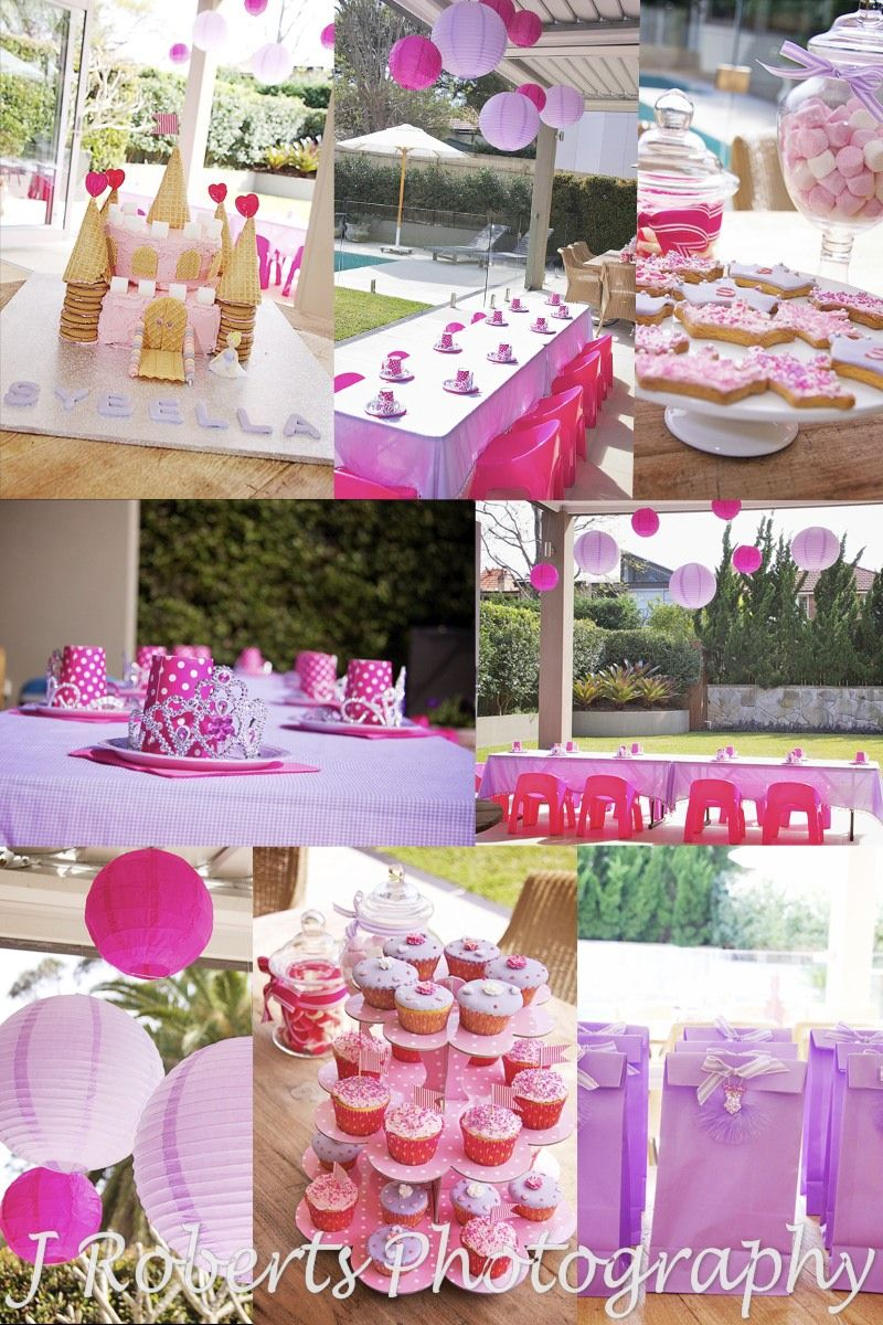 Princess themed party details - party photography sydney