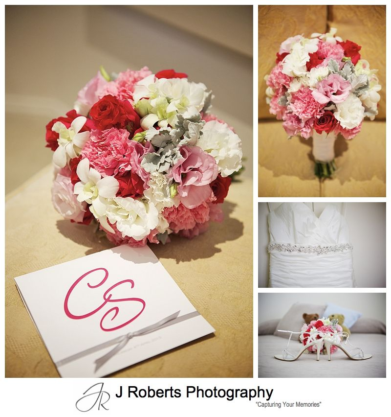 flowers invitation and dress wedding details - sydney wedding photography