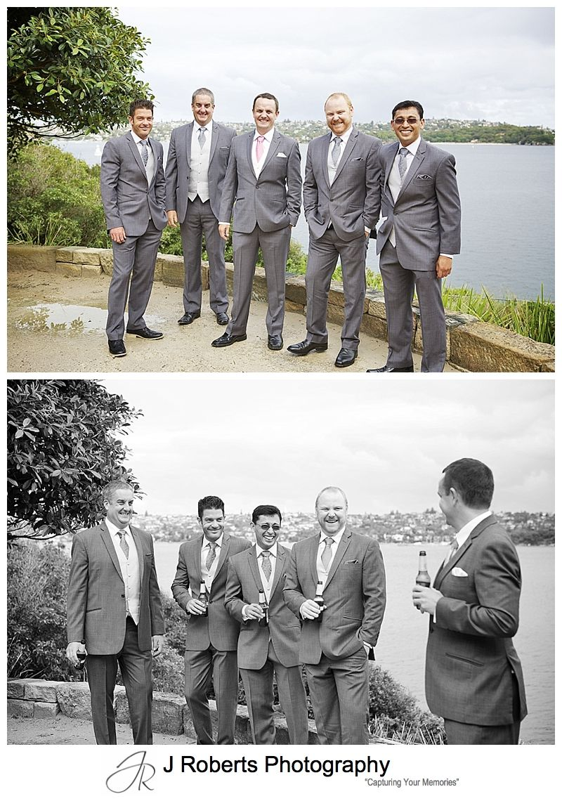 Groomsmen pre wedding at Sergeants' Mess Mosman - sydney wedding photography