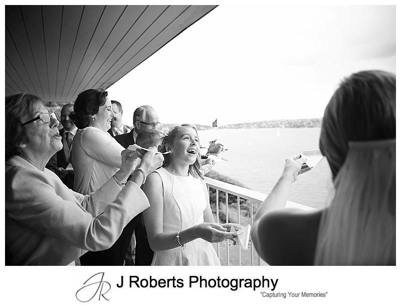 butterfly release during wedding ceremony - sydney wedding photography