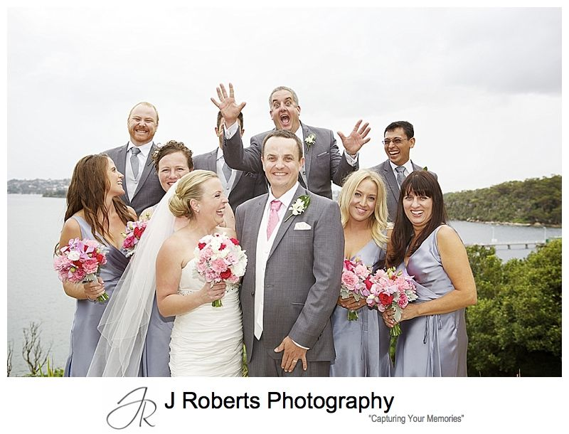 fun bridal party photo bomb - sydney wedding photography
