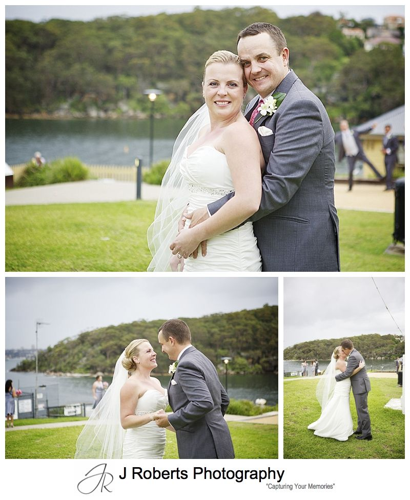 Bridal portraits at chowder bay mosman - sydney wedding photography