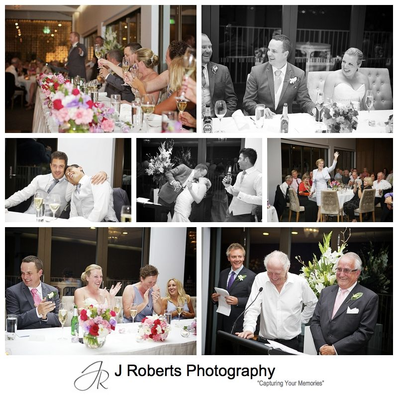 Wedding speech reactions - sydney wedding photography