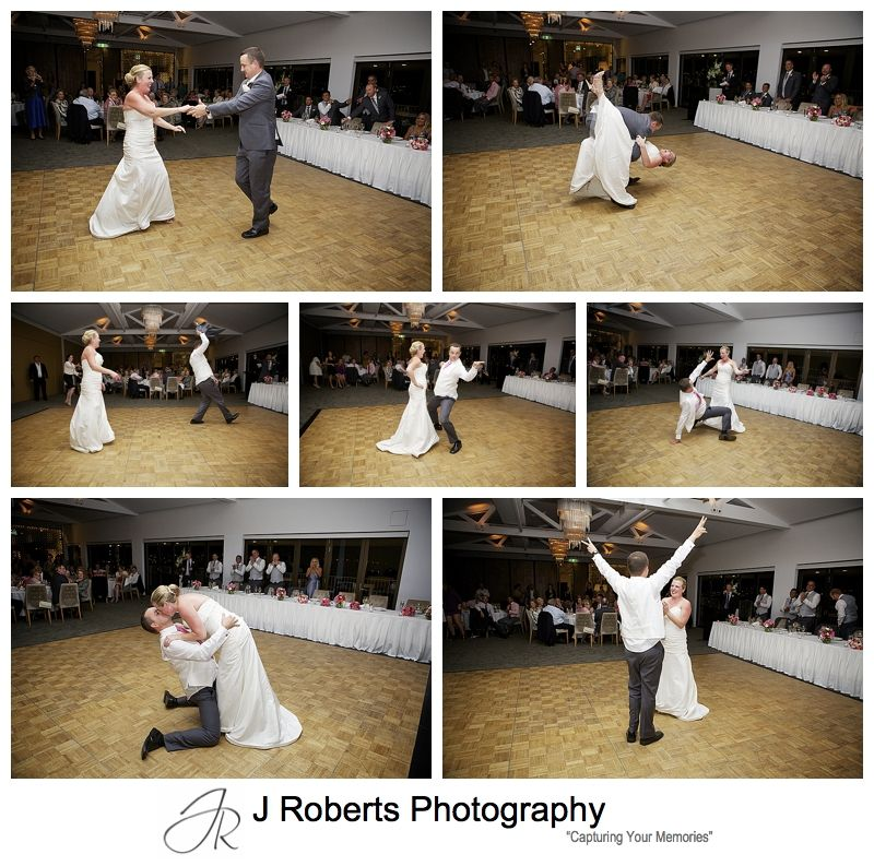 Fabulous bridal waltz series with groom a great dancer - sydney wedding photography