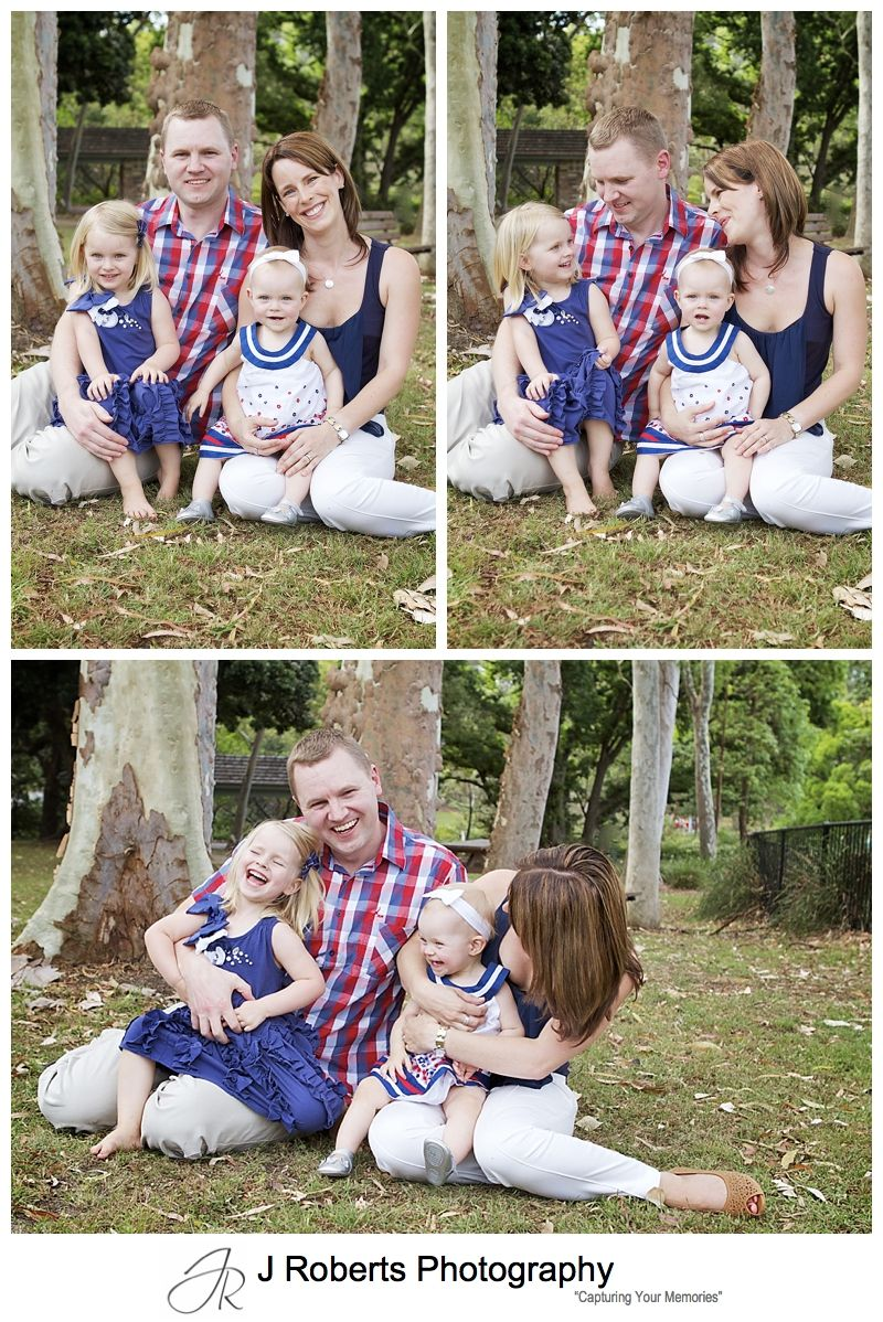 Candid family portrait with some fun - sydney family portrait photography