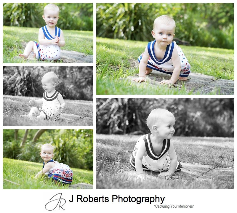 Baby girl portraits in the park - sydney family portrait photography