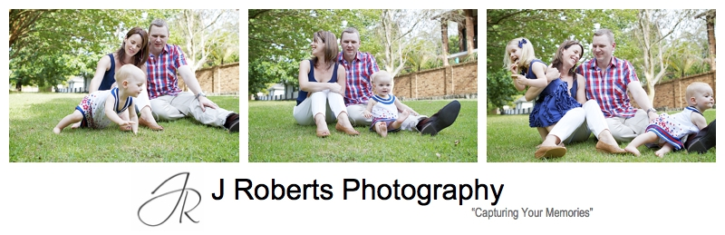 Family of 4 portraits in the park - sydney family portrait photography