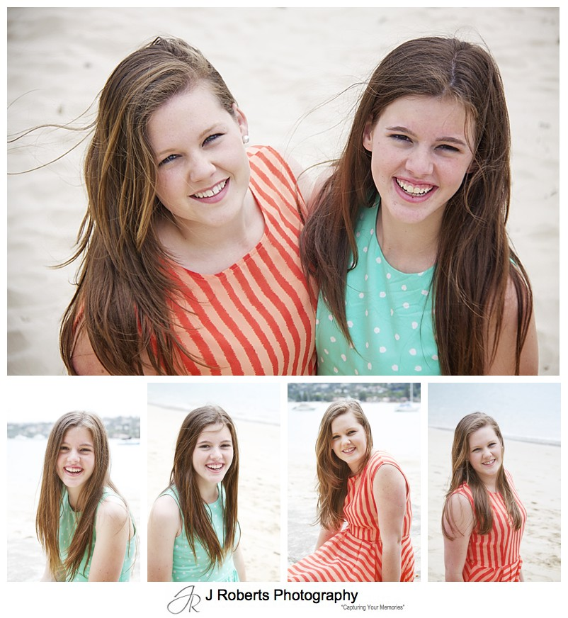 portraits of teenage sisters - sydney family portrait photography