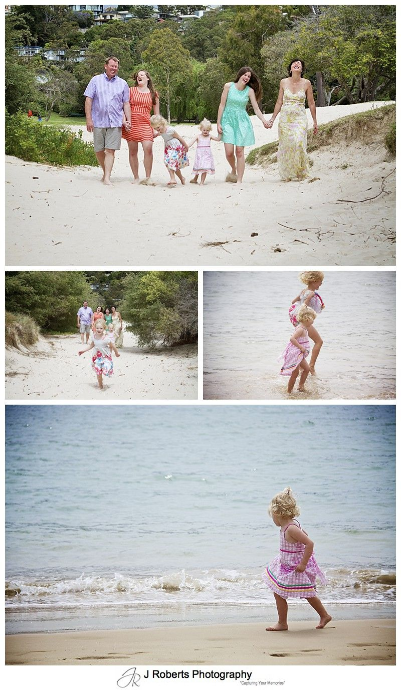 family fun at the beach - sydney family portrait photography