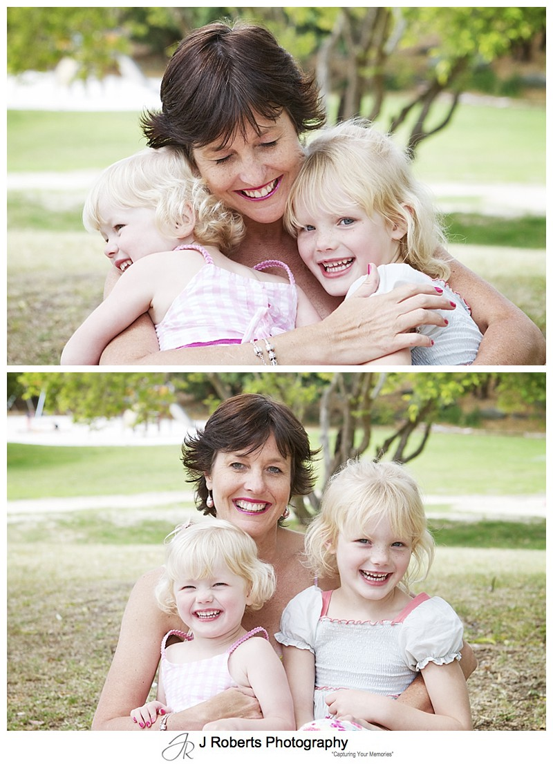 MOther with her daughters - sydney family portrait photography