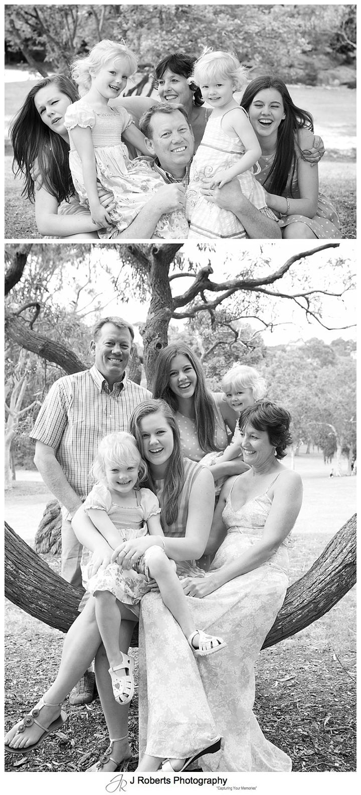 B&W family portraits chinaman's beach mosman - sydney family portrait photography