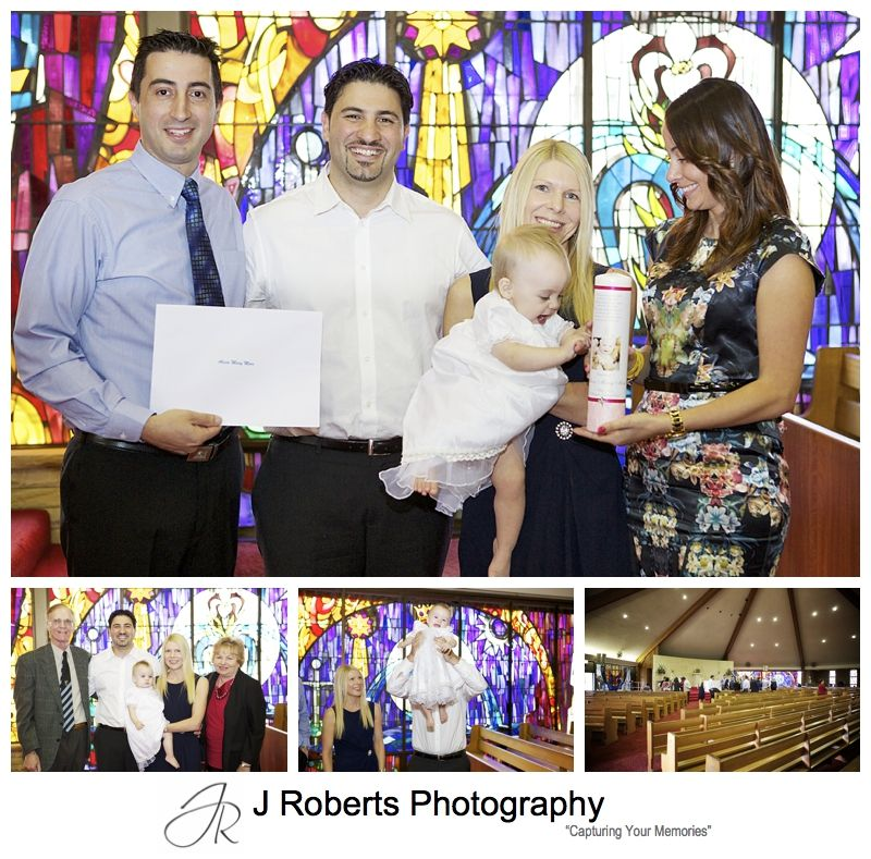 Baptism ceremony at St Michael's Baulkham Hills - sydney baptism photography